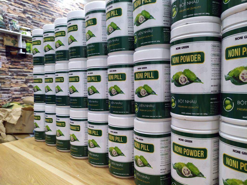 bột nhàu khô nguyên chất Noni Green