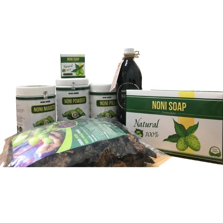 [Combo Giảm 80k] Set 5 sản phẩm Noni Green - Bộ quà tặng cao cấp