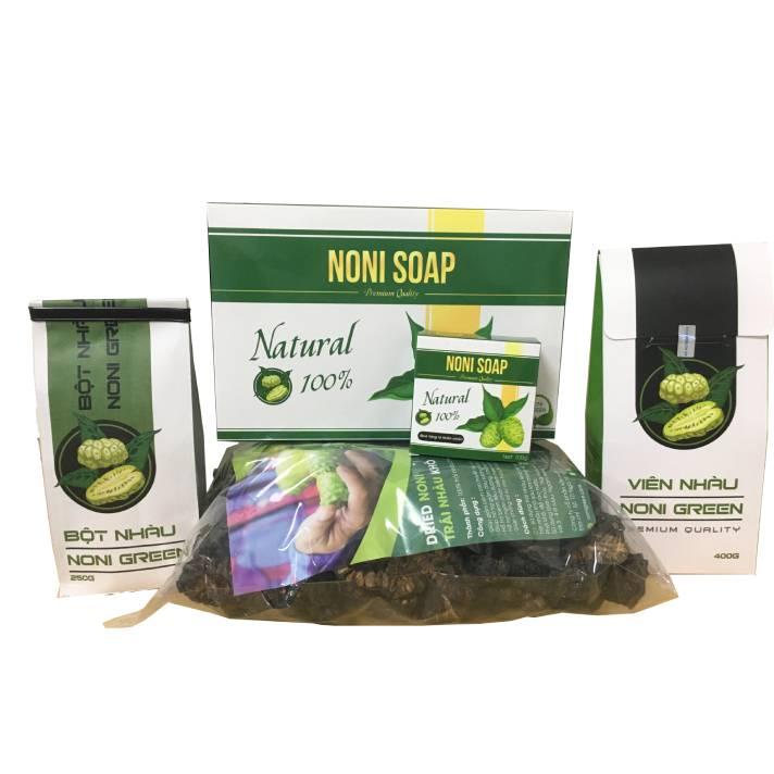 [Combo Giảm 60k] Set 4 sản phẩm từ trái nhàu Noni Green