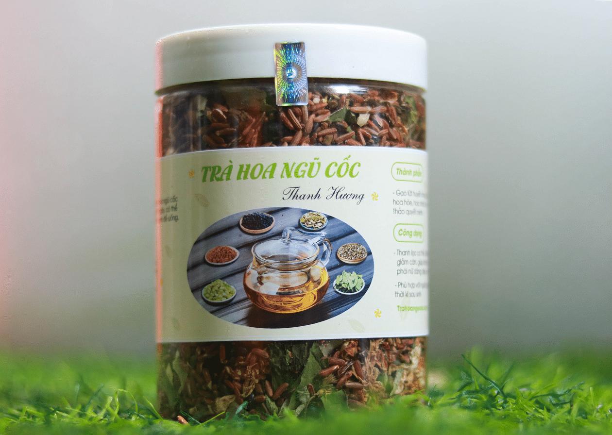 Trà hoa ngũ cốc - trà thanh nhiệt giải độc hộp nhựa 500g