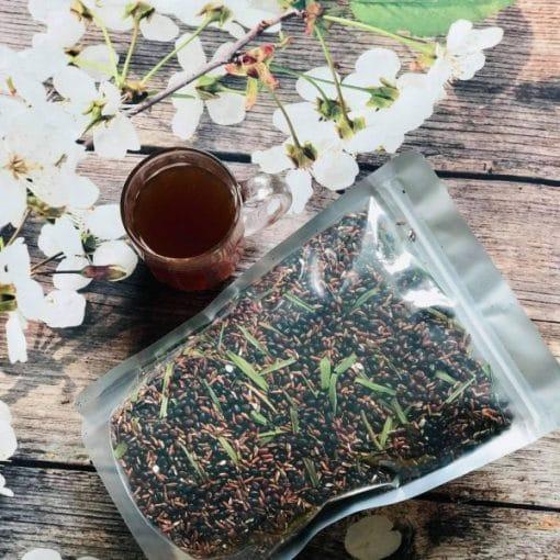 trà gạo lứt đậu đen lá dứa