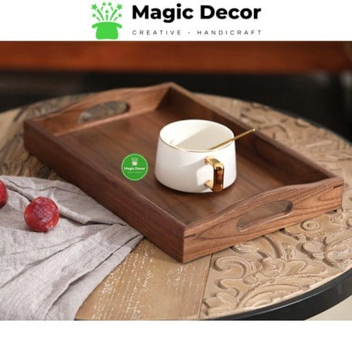 Khay trà, khay decor gỗ óc chó cao cấp